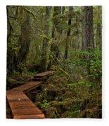 Winding Through The Willowbrae Rainforest Fleece Blanket