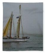 Windjammer In The Mist Fleece Blanket