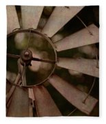 Windmill At Dusk Fleece Blanket