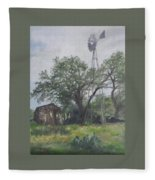 Windmill At Genhaven Fleece Blanket
