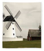 Windmill At Lytham St. Annes - England Fleece Blanket