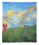 Windmill Girl Fleece Blanket
