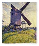 Windmill In Flanders Fleece Blanket