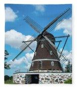 Windmill In Fleninge,sweden Fleece Blanket