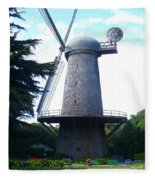 Windmill In Golden Gate Park Fleece Blanket