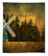 Windmill On My Mind Fleece Blanket