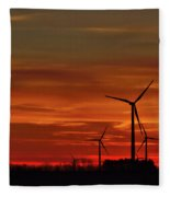 Windmill Sunrise Fleece Blanket