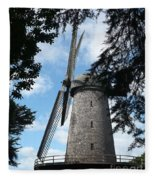 Windmill Through The Trees Fleece Blanket