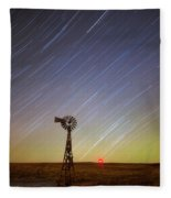 Windmills And Stars Fleece Blanket