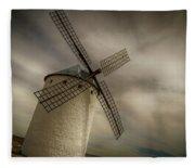 Windmills At Campo De Criptana Fleece Blanket