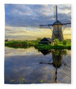 Windmills Fleece Blanket