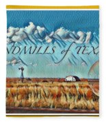 Windmills Of Texas Fleece Blanket