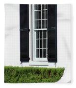 Window And Black Shutters Fleece Blanket
