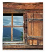 Window And Reflection Fleece Blanket
