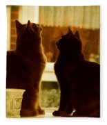 Window Cats Fleece Blanket
