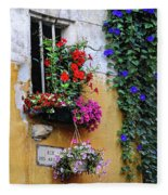 Window Garden In Arles France Fleece Blanket