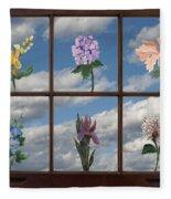 Window Garden Fleece Blanket