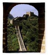 Window Great Wall Fleece Blanket