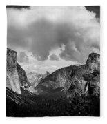 Window Into Yosemite Fleece Blanket