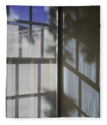 Window Lines Fleece Blanket