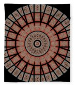 Window Mosaic - Mandala - Transparent Fleece Blanket
