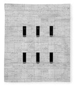 Window Of Lincoln Center, Upper West Side Manhattan Fleece Blanket