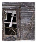 Window Of Loneliness Fleece Blanket