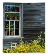 Window Of Olson House Fleece Blanket