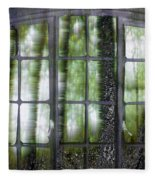 Window On The Woods Fleece Blanket