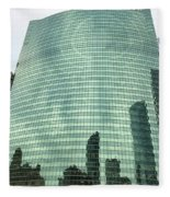 Window Reflections In The Windy City Fleece Blanket