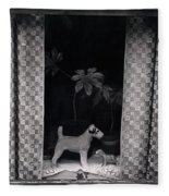 Window Scene Fleece Blanket