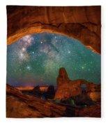 Window To The Heavens Fleece Blanket