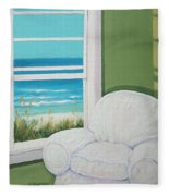 Window To The Sea No. 2 Fleece Blanket