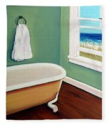Window To The Sea No. 4 Fleece Blanket