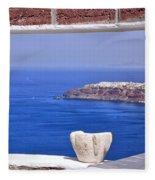Window View To The Mediterranean Fleece Blanket