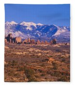 Windows Section, Arches National Park Fleece Blanket