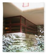 Windows Stones Fallingwater  Fleece Blanket
