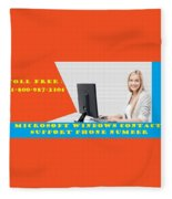 Windows Support To Remove System Error Codes Fleece Blanket