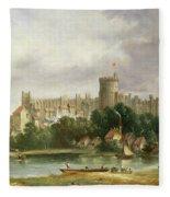Windsor Castle - From The Thames Fleece Blanket