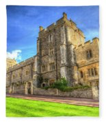Windsor Castle Architecture Fleece Blanket