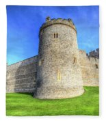 Windsor Castle Battlements  Fleece Blanket