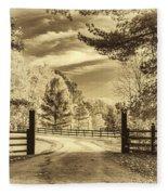 Windstone Farm - Sepia Fleece Blanket