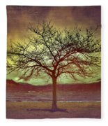 Windstorm At Skaha Lake Fleece Blanket