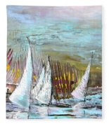 Windsurf Impression 03 Fleece Blanket