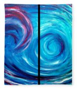 Windswept Blue Wave And Whirlpool 2 Fleece Blanket