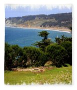 Windswept Over San Francisco Bay Fleece Blanket
