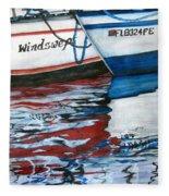 Windswept Reflections Sold Fleece Blanket