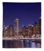 Windy City Lakefront Fleece Blanket