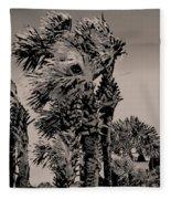 Windy Day At Beach Fleece Blanket