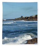 Windy Day At Yachats Fleece Blanket